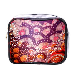 Colorful Art Traditional Batik Pattern Mini Toiletries Bags