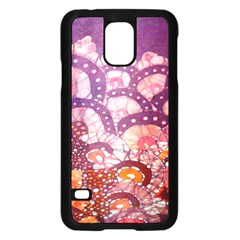 Colorful Art Traditional Batik Pattern Samsung Galaxy S5 Case (Black)