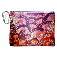Colorful Art Traditional Batik Pattern Canvas Cosmetic Bag (XXL)