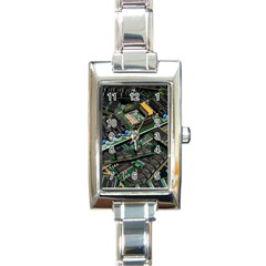 Computer Ram Tech Rectangle Italian Charm Watch