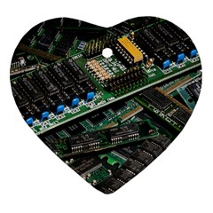 Computer Ram Tech Heart Ornament (Two Sides)