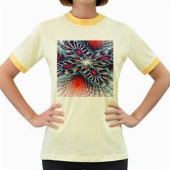Creative Abstract Women s Fitted Ringer T-Shirts