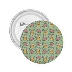 Cute Hamster Pattern 2.25  Buttons