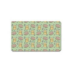 Cute Hamster Pattern Magnet (Name Card)