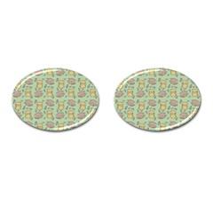 Cute Hamster Pattern Cufflinks (Oval)