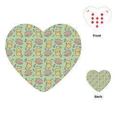 Cute Hamster Pattern Playing Cards (Heart)