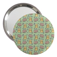 Cute Hamster Pattern 3  Handbag Mirrors
