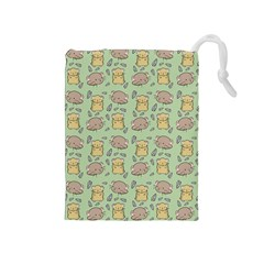 Cute Hamster Pattern Drawstring Pouches (Medium)
