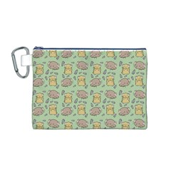 Cute Hamster Pattern Canvas Cosmetic Bag (M)