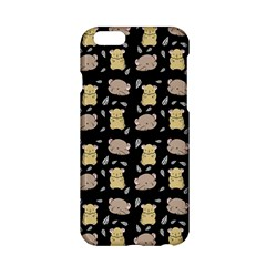 Cute Hamster Pattern Black Background Apple iPhone 6/6S Hardshell Case