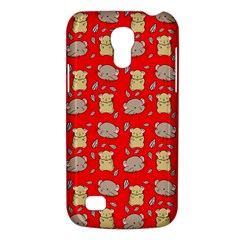 Cute Hamster Pattern Red Background Galaxy S4 Mini
