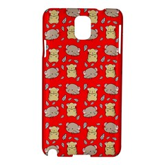 Cute Hamster Pattern Red Background Samsung Galaxy Note 3 N9005 Hardshell Case