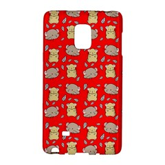 Cute Hamster Pattern Red Background Galaxy Note Edge