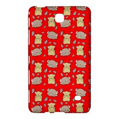 Cute Hamster Pattern Red Background Samsung Galaxy Tab 4 (8 ) Hardshell Case