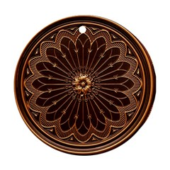 Decorative Antique Gold Round Ornament (Two Sides)
