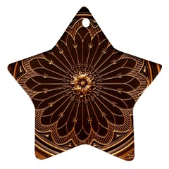 Decorative Antique Gold Star Ornament (Two Sides)