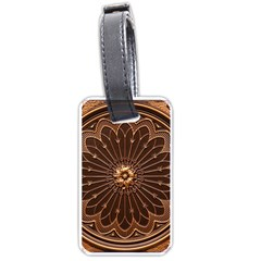 Decorative Antique Gold Luggage Tags (One Side)