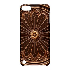 Decorative Antique Gold Apple iPod Touch 5 Hardshell Case with Stand