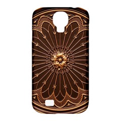 Decorative Antique Gold Samsung Galaxy S4 Classic Hardshell Case (PC+Silicone)