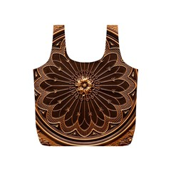 Decorative Antique Gold Full Print Recycle Bags (S)