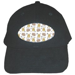 Cute Hamster Pattern Black Cap
