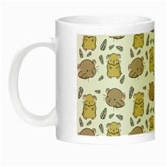 Cute Hamster Pattern Night Luminous Mugs