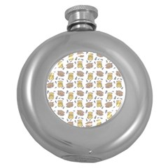 Cute Hamster Pattern Round Hip Flask (5 oz)