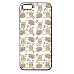 Cute Hamster Pattern Apple iPhone 5 Seamless Case (Black)