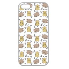 Cute Hamster Pattern Apple Seamless iPhone 5 Case (Clear)