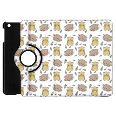 Cute Hamster Pattern Apple iPad Mini Flip 360 Case