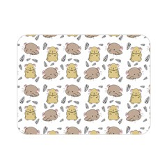 Cute Hamster Pattern Double Sided Flano Blanket (Mini)
