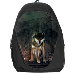 Awesome Wolf In The Night Backpack Bag