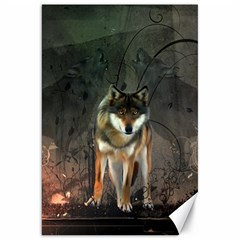 Awesome Wolf In The Night Canvas 20  X 30