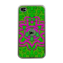 Vegetarian Art With Pasta And Fish Apple Iphone 4 Case (clear)
