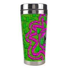 Vegetarian Art With Pasta And Fish Stainless Steel Travel Tumblers