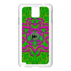 Vegetarian Art With Pasta And Fish Samsung Galaxy Note 3 N9005 Case (white)