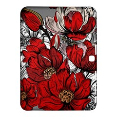 Red Flowers Pattern Samsung Galaxy Tab 4 (10 1 ) Hardshell Case