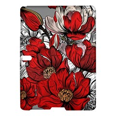 Red Flowers Pattern Samsung Galaxy Tab S (10 5 ) Hardshell Case