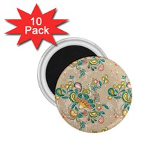 Hand Drawn Batik Floral Pattern 1 75  Magnets (10 Pack)