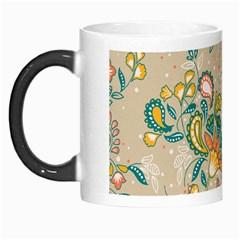 Hand Drawn Batik Floral Pattern Morph Mugs