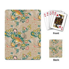 Hand Drawn Batik Floral Pattern Playing Card