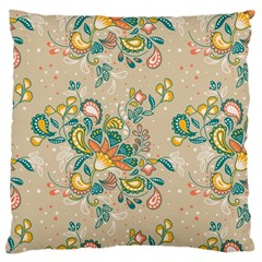 Hand Drawn Batik Floral Pattern Large Cushion Case (one Side)
