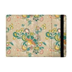 Hand Drawn Batik Floral Pattern Apple Ipad Mini Flip Case