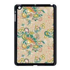 Hand Drawn Batik Floral Pattern Apple Ipad Mini Case (black)