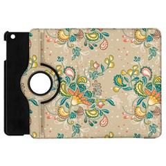 Hand Drawn Batik Floral Pattern Apple Ipad Mini Flip 360 Case
