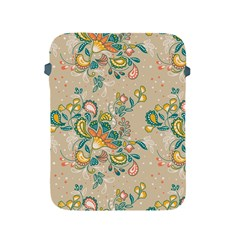 Hand Drawn Batik Floral Pattern Apple Ipad 2/3/4 Protective Soft Cases