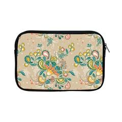 Hand Drawn Batik Floral Pattern Apple Ipad Mini Zipper Cases