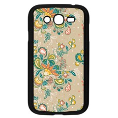 Hand Drawn Batik Floral Pattern Samsung Galaxy Grand Duos I9082 Case (black)