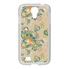 Hand Drawn Batik Floral Pattern Samsung Galaxy S4 I9500/ I9505 Case (white)