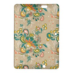 Hand Drawn Batik Floral Pattern Kindle Fire Hdx 8 9  Hardshell Case